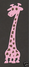 Scrapbooking words and Designs - Giraffe-pink/brown