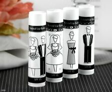 Bride & Groom Lip Balm for Wedding Favors & Gift Bags, Bridesmaid, Groomsman