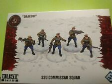 Dust Tactics - Drakoni SSU Commissar Squad 5 Soviet wargaming minitures