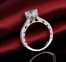 Cz Cubic Zirconia Promise Engagement Ring Hot 925 Sterling Silve Cut 0.9 Ct Aaa