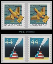 4495-96 4496 Pairs Art Deco Bird & Patriotic Quill Inkwell 2011 Set MNH -Buy Now