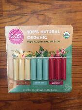 Neuf EOS Usda Bio Lisse Naturel Karité Lèvre Baume 9 Clé Pack. Emballage Déchiré