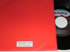 """7"""" - Nick Heyward Warning Sign & Warning Sign Version - Italy 1984 # 4383"""