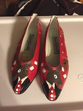MARGARET JERROLD Leather Vintage Shoes Election 96, Sz 7.5, Donkey Demo, Rare