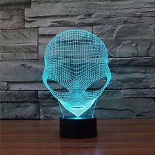 Optical Illusion 3D Pop-eyed Alien Hologram Decorative Light 7 Colors to chose