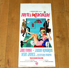 TUTTI I MERCOLEDì locandina poster Jane Fonda Dean Jones Any Wednesday 1966 F82