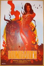 2013 Soundgarden - Louisville Silkscreen Concert Poster by Vance Kelly