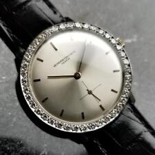 Vacheron Constantin Solid 18k Gold Diamond Swiss 1970s Manual Mens Watch LV307