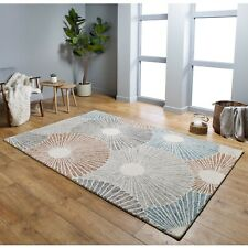 GARDENIA SEASHELL BOHO STYLE MULTICOLOURED LUXURY WOOL RUG VARIOUS SIZES