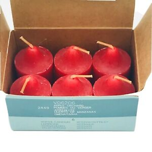 Partylite Votive Candle Red Apple Orchard #VD6206, Box of 6