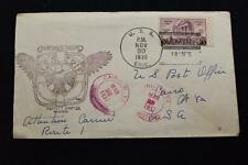 NAVAL COVER 1936 SHIP CANCEL SHAKEDOWN CRUISE LE HAVRE USS ERIE (PG-50) (1605)
