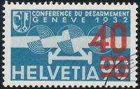 SCHWEIZ 1936, MiNr. 293 a, sauber gestempelt, Attest Marchand, Mi. 800,-