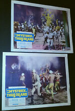 Lobby Card 2 lot~ THE MYSTERY OF THUG ISLAND ~Guy Madison ~Peter Van Eyck