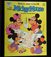 Walt Disney 1981 Whitman MICKEY MOUSE TRACE and COLOR Book Unused