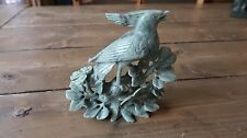 Vintage Carved JADE Bird Statue 5 x 5 x 2 inches