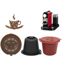 5x Refillable Reusable Coffee Capsule Pods Cup With 1 Coffee Spoon For Nespresso