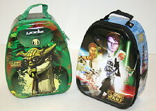 Star Wars Clone Wars Characters Set of 2 Tin Backpack Arch Carry Alls, NEW
