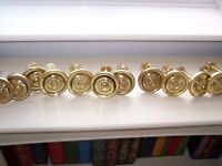 LAURA ASHLEY SOLID BRASS CURTAIN HOLD/TIE BACKS 13 AVAILABLE only 1 left now