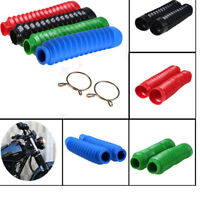 2Pcs Motorcycle Rubber Front Fork Gaiters Dust Proof Shock absorber Proof Cover