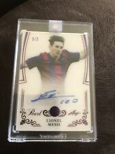 2017 Leaf Pearl Lionel Messi Signed Card 2/2 World Cup Soccer Auto