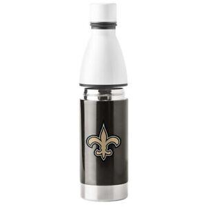 New Orleans Saints 25 oz Stainless Steel Water Bottle NFL Boelter Hot / Cold