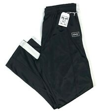NWT Obey Black Borstal Relaxed Straight Fit Stripe Track Pants Mens Size Large