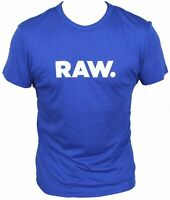 New G-Star Raw Mens T-Shirt Round Neck in Hudson Blue Colour Size M