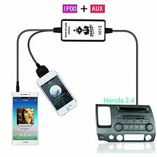 Car AUX Adapter 3.5mm  Input iPod Or iPhone Interface For Honda 2.4 Accord