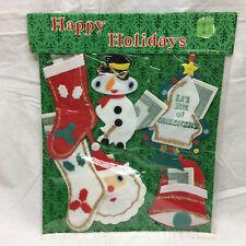 Vintage Christmas Decoration Money Holder in Original Package Snowman Tree Santa