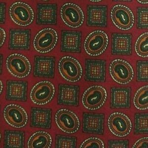 Red Foulard Silk ANDREW'S Tie