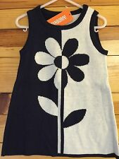*NWT GYMBOREE* Girls FLOWER SHOWER Gym Navy Daisy Sweater Dress Sz 18-24 Months