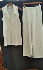 Vintage D.B.Y. White Ladies Size 10 2piece Lace Print Pant Suit