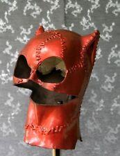 Metalic Red Meow Hood Foam Latex Mask