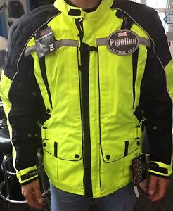Tourmaster Waterproof Protective Transition 3 Hi-Viz Motorcycle Jacket