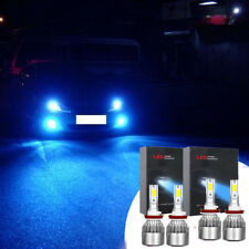 Ice Blue Led Headlight Bulb for 2007-17 Toyota Camry High Beam 9005+Low Beam H11 (Fits: More than one vehicle)