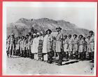 1941 Everyone Including Butcher Baker Stand for Inspection Libya Orig News Photo
