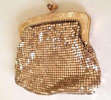 Vintage Oroton Gold Glomesh Coin Purse Kiss Close Original tag