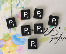 10 (TEN) Letter P, Black  Scrabble Tiles Letters, Individual, A to Z in Stock!