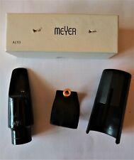 Meyer Hard Rubber Alto Sax Mouthpiece 6M 6 Medium w/ BG L12SR Ligature and Cap