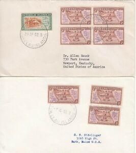 Tokelau 1952 and 1955 covers