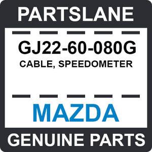 GJ22-60-080G Mazda OEM Genuine CABLE, SPEEDOMETER