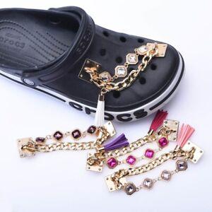 1pc White Gem Shoe Charm FOR Croc Bracelet & shoe Wristband Fancy clog Jewelry