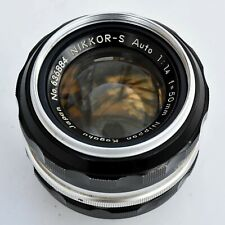 Nikkor S Auto 50mm f/1.4 AI Converted Sup'r Sh'p Lens. V. Good++ See test shots