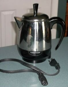Farberware Stainless Steel 2-4 Cup Coffee Percolator Pot Model PK4000SS