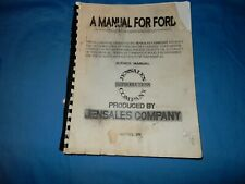 Jensales Ford Tractor Service Manual  Model 8N