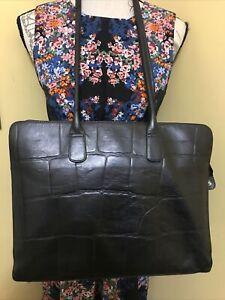 Extra Large  Black Leather Genuine Radley Londyn/ Work/Laptop Shoulder Bag