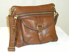 FOSSIL  SASHA  BROWN   GENUINE   LEATHER  SMALL CROSSBODY  BAG