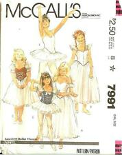 McCall's American Ballet Theatre Pattern ABT Dance Costume 7991 Girls Size 7