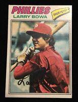 LARRY BOWA 1977 TOPPS Autograph Signed AUTO Baseball Card 310 PHILLIES