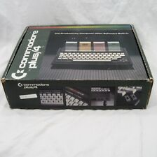 Vtg Commodore Plus/4 Computer in Box with Power Supply & Video Cable WORKS!